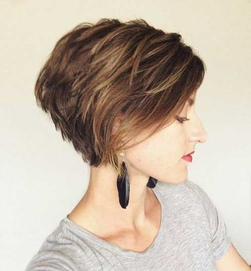 Short hair bob haircut-thin hair