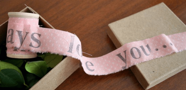 Unraveling a Letter - romantic diy gift ideas