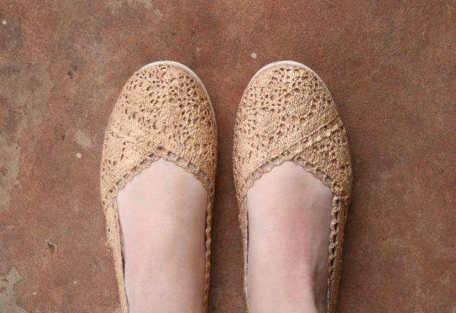 Gold Shoes - fabulous shoe makeovers