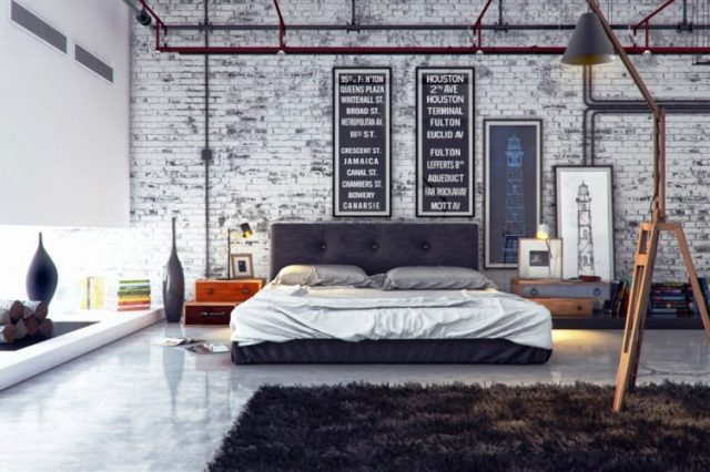 Artistic choice - modern contemporary masculine bedroom