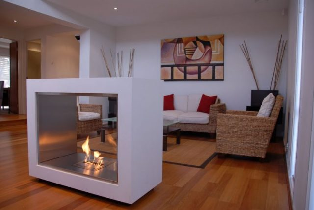 Movable fireplace designs