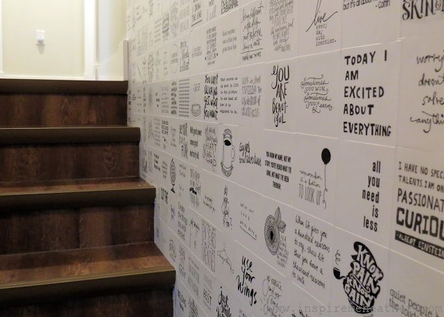 The quote wall - creative gallery wall ideas
