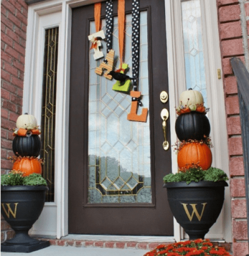 The elegant and modern entrance - fall decorating ideas