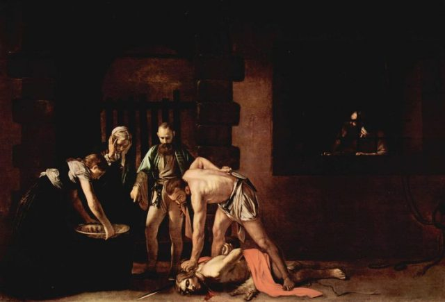 Caravaggio – The Beheading of Saint John the Baptist (1608) - most famous paintings