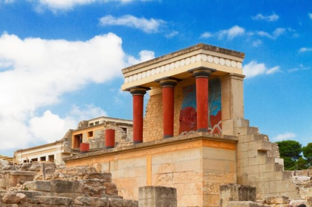 Minoan Palace of Knossos, Greece - oldest buildings