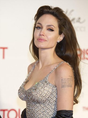 Angelina Jolie - celebrities with sexiest tattoos
