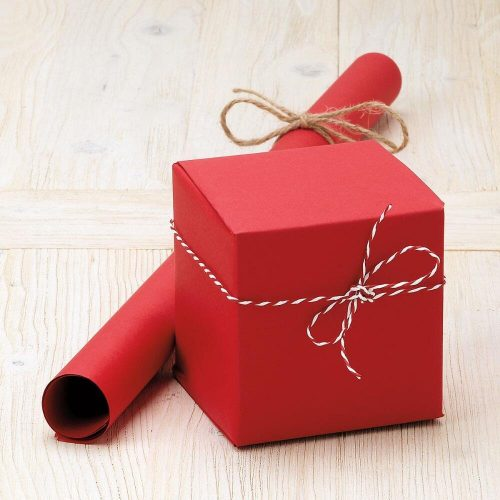 Red plain Kraft Jumbo roll gift wap-72sq ft - Christmas wrapping papers