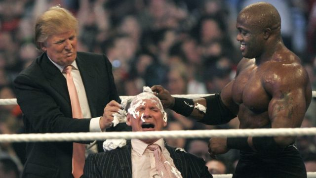 Trump actually shaved WWE Owner McMahon's head