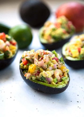 Spicy Salsa Stuffed Avocado - Healthy Breakfasts for Busy Mornings