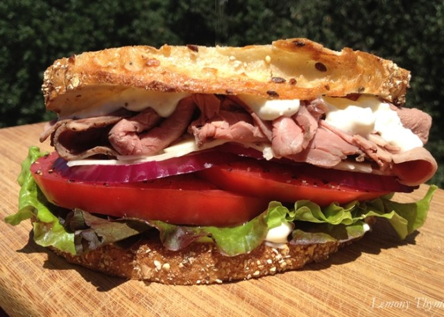 Roast Beef and Horseradish Sandwich - Low-Calorie Lunch Recipes