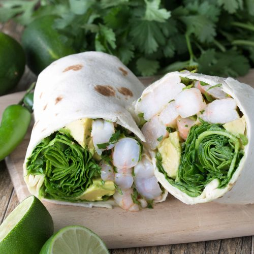 Tangy Shrimp and Avocado Wrap - Low-Calorie Lunch Recipes