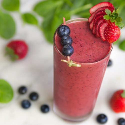 Purple Passion Green Smoothie - Smoothie Recipes for Quick Weight Loss