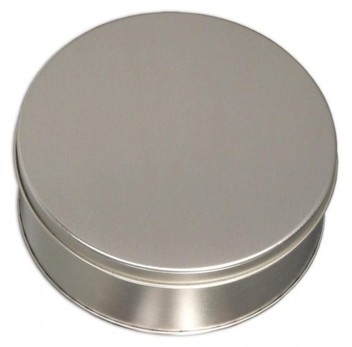 Scott's Cakes Solid Platinum Tin - Christmas Cookie Tins