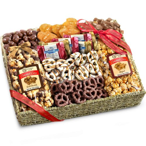 Chocolate, Caramel and Crunch Grand Gift Basket - Christmas Cookies