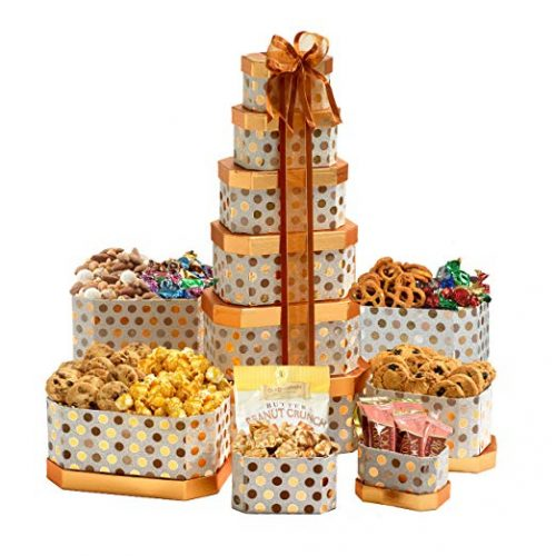 Broadway Basketeers Thinking of You Gift Tower - Christmas Cookies