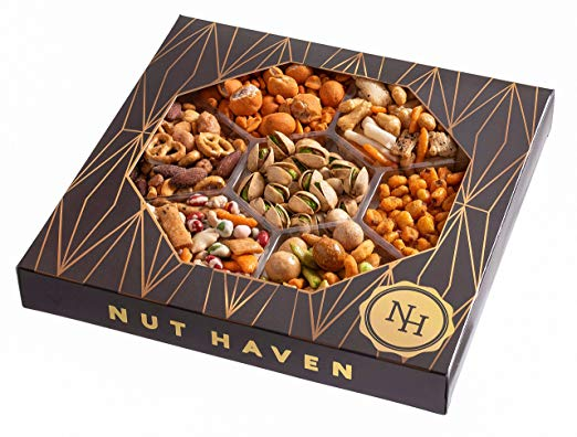 Nut Haven Gourmet Party Mix Nut Gift Box - Roasted Nuts
