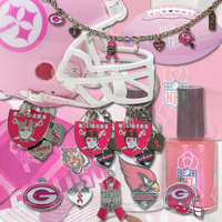 assorted pink nfl duds