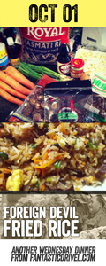 Oct 01 Foreign Devil Fried Rice for World Vegetarian Day and birthday of the People's Republic of China #fantasticdrivel