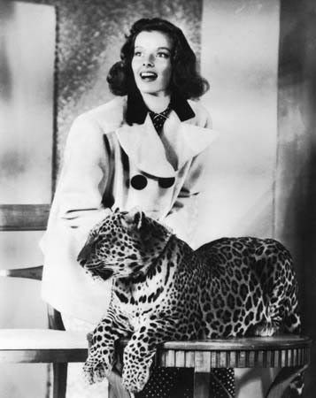 Bringing Up Baby Publicity Photo of Katharine Hepburn and Nissa (II) the Leopard #fantasticdrivel