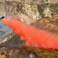 The red stuff dropped from airplanes to put out forest fires also acts as a fertilizer.