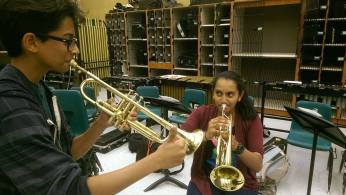 Shibu and Vaidehi grinding over some difficult jazz pieces.