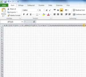 Göra eget mönster med hjälp av Excel - Del 1 Rutor