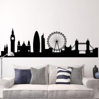 London - Cityscape Skyline Wall Decal - Mural