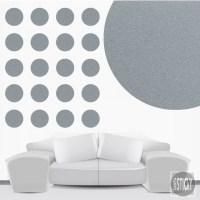 Silver Polka Dot Wall Decals