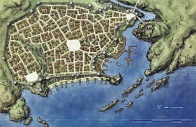 town map maps fantasy pathfinder port dragons dungeons village archipelago lake fantasticmaps website really well