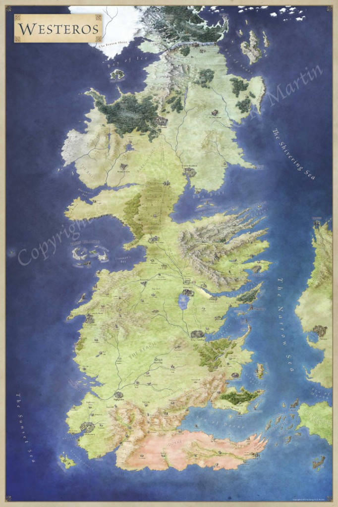 Game Of Thrones Map Pdf : thrones, Thrones, Poster, Gameswalls.org