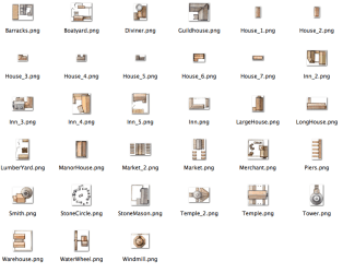 town buildings map pack symbols iconic sheet fantasy icons rpg building maps torstan icon cartography contact medieval towns fantasticmaps fantastic