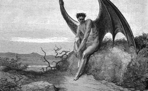 Lucifer from Milton's Paradise Lost by Gustave Dore