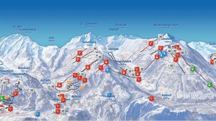Pistenkaart Skijuwel