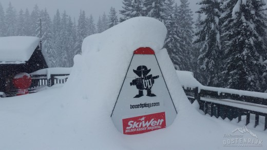 Sneeuwbom van 1 meter onderweg?