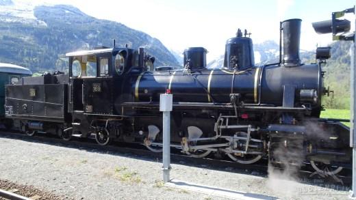 Met een nostalgische trein richting Krimml (Waterval)