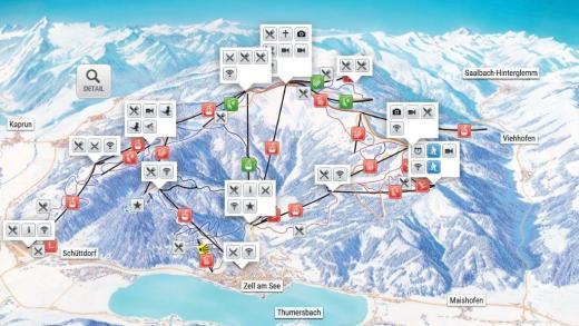 Zell am See skikaart