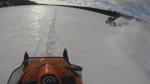 Snowmobiel Crash