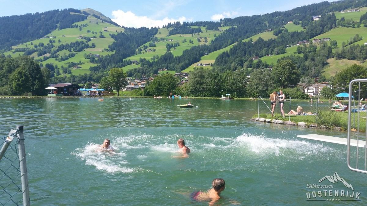 Impressie Badesee in Brixen im Thale