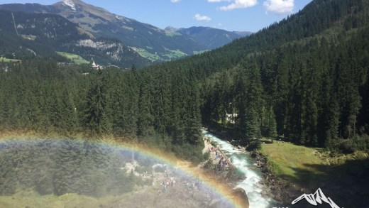 Vincent bezocht de Krimmler Watervallen