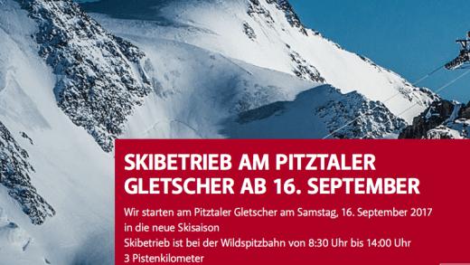 opening Pitztaler gletsjer