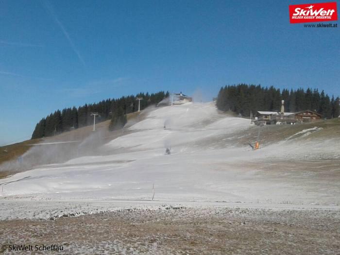SkiWelt sneeuwkanonnen in bedrijf op 1 november 2017