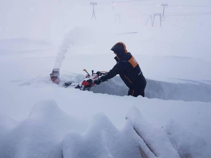 Stubaier Gletsjer 1 meter sneeuw