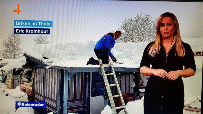 Brixen im Thale CampingWelt sneeuwruimen RTL4