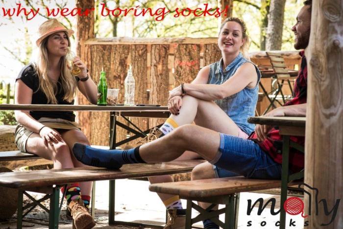 Molly Socks Banner wandelsokken