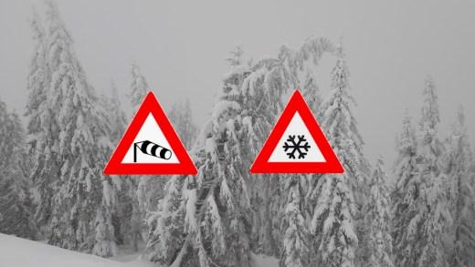 Weeralarm: zware sneeuwval en storm