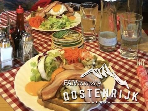 Scheffau Jausenstation Oberberg Schinken Kase Toast
