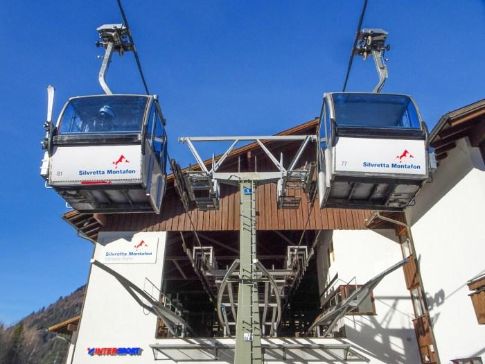 Silvretta Montafon Valisera Bahn zelfde lift als Fleckalmbahn Kirchberg