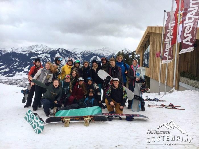 Kaprun skileraren Groepsfoto examens gehaald