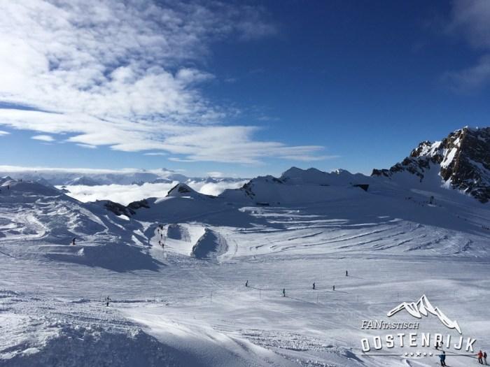 Kaprun Kitzsteinhorn Uitzicht gletscher