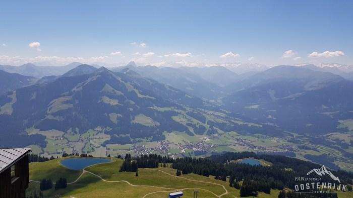 Uitzicht vanaf Hohe Salve op Westendorf